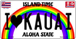 I Heart Kauai Wholesale Novelty Metal Bicycle Plate BP-13632