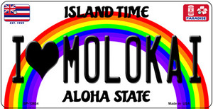 I Heart Molokai Wholesale Novelty Metal Bicycle Plate BP-13634