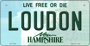 Loudon New Hampshire Wholesale Novelty Metal Bicycle Plate BP-13653