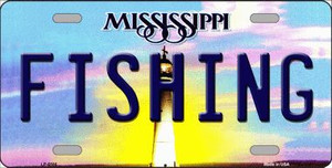 Fishing Mississippi Novelty Wholesale Metal License Plate