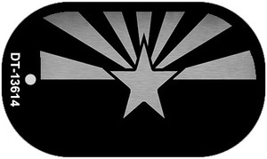 Arizona Flag Black  Wholesale Novelty Metal Dog Tag Necklace DT-13614