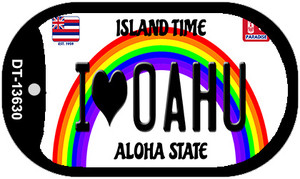 I Heart Oahu Wholesale Novelty Metal Dog Tag Necklace
