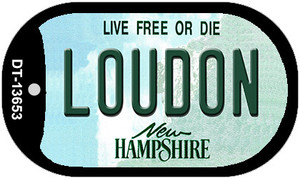 Loudon New Hampshire Wholesale Novelty Metal Dog Tag Necklace DT-13653