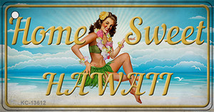 Home Sweet Hawaii Wholesale Novelty Metal Key Chain KC-13612