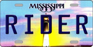 Rider Mississippi Novelty Wholesale Metal License Plate