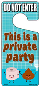 Private Party Wholesale Novelty Metal Door Hanger DH-267