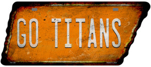 Go Titans Wholesale Novelty Rusty Effect Metal Tennessee License Plate Tag TN-126
