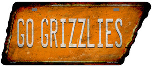 Go Grizzlies Wholesale Novelty Rusty Effect Metal Tennessee License Plate Tag TN-134