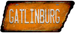 Gatlinburg Wholesale Novelty Rusty Effect Metal Tennessee License Plate Tag TN-144