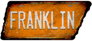 Franklin Wholesale Novelty Rusty Effect Metal Tennessee License Plate Tag TN-146