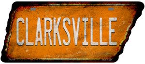 Clarksville Wholesale Novelty Rusty Effect Metal Tennessee License Plate Tag TN-147