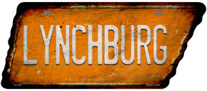 Lynchburg Wholesale Novelty Rusty Effect Metal Tennessee License Plate Tag TN-152