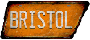 Bristol Wholesale Novelty Rusty Effect Metal Tennessee License Plate Tag TN-154
