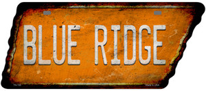 Blue Ridge Wholesale Novelty Rusty Effect Metal Tennessee License Plate Tag TN-155