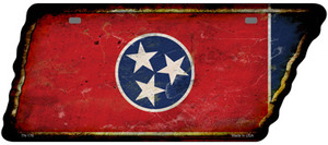 Tennessee Flag Wholesale Novelty Rusty Effect Metal Tennessee License Plate Tag TN-176