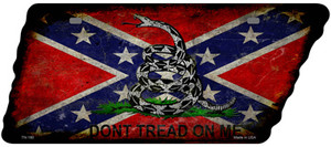 Confederate Dont Tread Wholesale Novelty Rusty Effect Metal Tennessee License Plate Tag TN-180