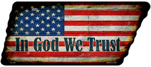 In God We Trust American Flag Wholesale Novelty Rusty Effect Metal Tennessee License Plate Tag TN-184