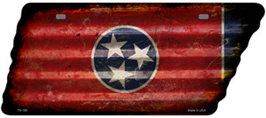 Corrugated Tennessee Flag Wholesale Novelty Rusty Effect Metal Tennessee License Plate Tag TN-188