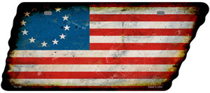 Betsy Ross American Flag Wholesale Novelty Rusty Effect Metal Tennessee License Plate Tag TN-189