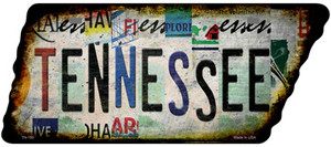 Tennessee Strip Art Wholesale Novelty Rusty Effect Metal Tennessee License Plate Tag TN-193