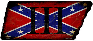 Confederate Three Percenter Wholesale Novelty Rusty Effect Metal Tennessee License Plate Tag TN-194