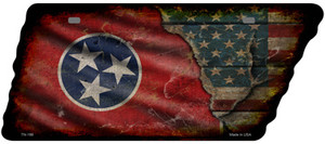 Tennessee American Flag Wholesale Novelty Rusty Effect Metal Tennessee License Plate Tag TN-199