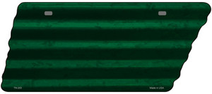 Green Solid Wholesale Novelty Corrugated Effect Metal Tennessee License Plate Tag TN-203