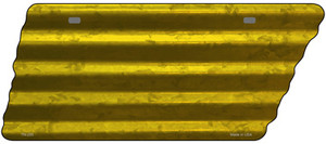 Yellow Solid Wholesale Novelty Corrugated Effect Metal Tennessee License Plate Tag TN-205