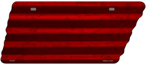 Red Solid Wholesale Novelty Corrugated Effect Metal Tennessee License Plate Tag TN-207