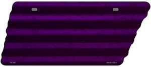 Purple Solid Wholesale Novelty Corrugated Effect Metal Tennessee License Plate Tag TN-209