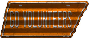 Go Volunteers Wholesale Novelty Corrugated Effect Metal Tennessee License Plate Tag TN-218