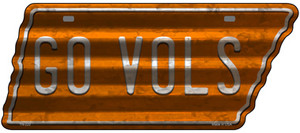 Go Vols Wholesale Novelty Corrugated Effect Metal Tennessee License Plate Tag TN-222