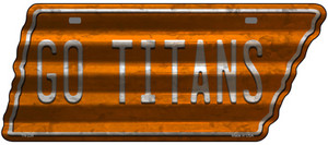 Go Titans Wholesale Novelty Corrugated Effect Metal Tennessee License Plate Tag TN-226