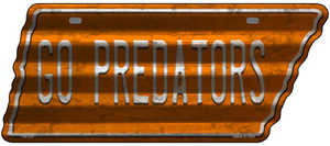 Go Predators Wholesale Novelty Corrugated Effect Metal Tennessee License Plate Tag TN-230