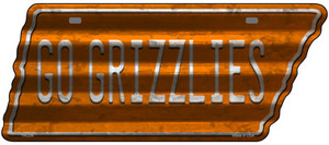 Go Grizzlies Wholesale Novelty Corrugated Effect Metal Tennessee License Plate Tag TN-234