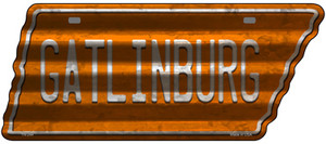 Gatlinburg Wholesale Novelty Corrugated Effect Metal Tennessee License Plate Tag TN-244