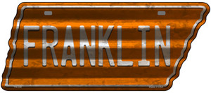 Franklin Wholesale Novelty Corrugated Effect Metal Tennessee License Plate Tag TN-246