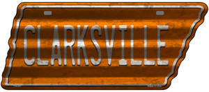 Clarksville Wholesale Novelty Corrugated Effect Metal Tennessee License Plate Tag TN-247