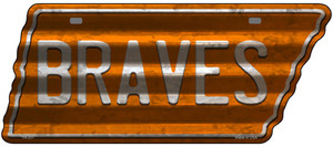 Braves Wholesale Novelty Corrugated Effect Metal Tennessee License Plate Tag TN-251