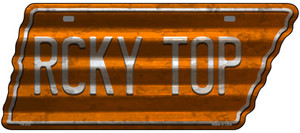 Rcky Top Wholesale Novelty Corrugated Effect Metal Tennessee License Plate Tag TN-253