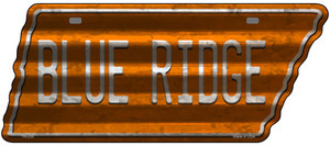 Blue Ridge Wholesale Novelty Corrugated Effect Metal Tennessee License Plate Tag TN-255
