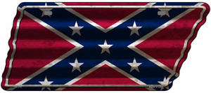 Confederate Flag Wholesale Novelty Corrugated Effect Metal Tennessee License Plate Tag TN-275