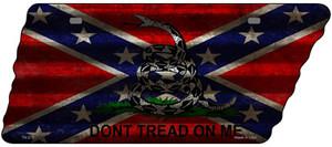 Confederate Dont Tread Wholesale Novelty Corrugated Effect Metal Tennessee License Plate Tag TN-279