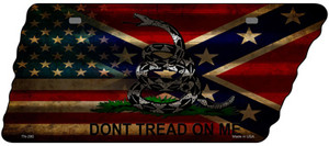 American Confederate Dont Tread Wholesale Novelty Corrugated Effect Metal Tennessee License Plate Tag TN-280