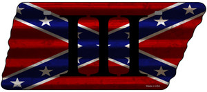 Confederate Three Percenter Wholesale Novelty Corrugated Effect Metal Tennessee License Plate Tag TN-292