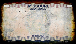 Missouri Bicentennial Wholesale Novelty Metal Motorcycle Plate MP-13655