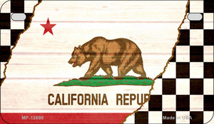 California Racing Flag Wholesale Novelty Metal Motorcycle Plate MP-13690