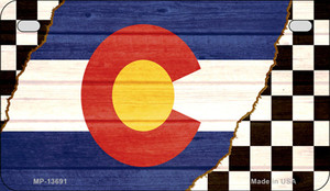 Colorado Racing Flag Wholesale Novelty Metal Motorcycle Plate MP-13691