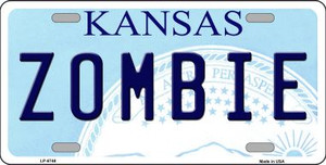 Zombie Kansas Novelty Wholesale Metal License Plate