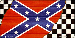 Confederate Racing Flag Wholesale Novelty Metal Bicycle Plate BP-13736
